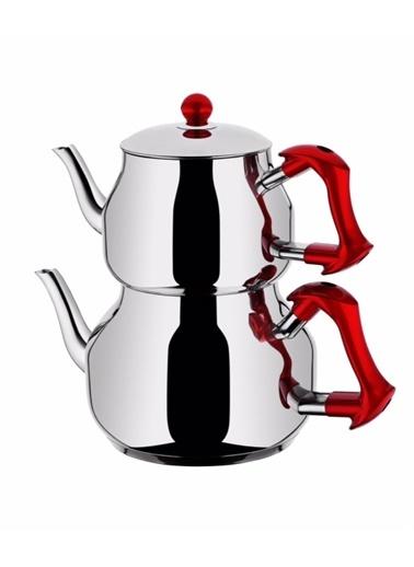 TAÇ Asya Orta Boy Çaydanlık - Kırmızı-Taç Mutfak